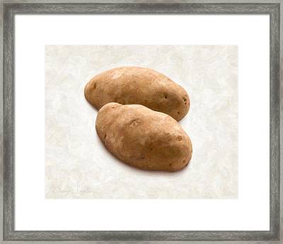Potatoes Framed Print by Danny Smythe