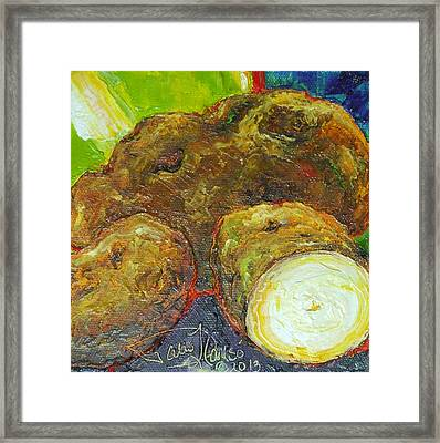 Potatoes Framed Print by Paris Wyatt Llanso