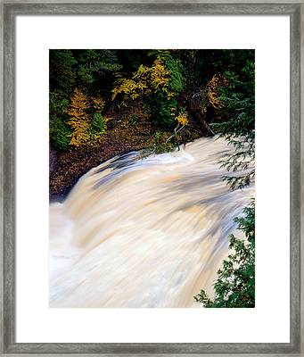 Potawatami Falls Framed Print by Tim Hawkins