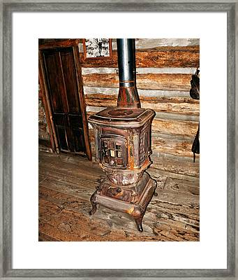 Potbelly Stove Framed Print
