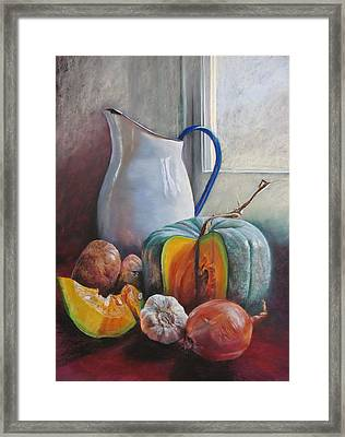 Potential Pumpkin Soup Framed Print by Lynda Robinson
