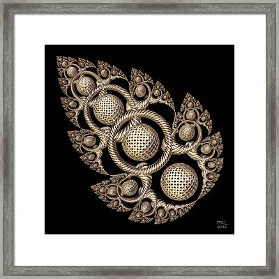 Framed Print featuring the digital art Potentiation by Manny Lorenzo