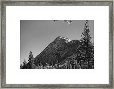 Pothole Dome In Yosemite Framed Print
