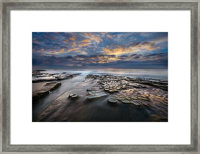 Pothole Sunset Framed Print