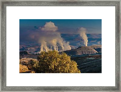 Potlatch Lumber Mill In Operation Framed Print by Ron Roberts