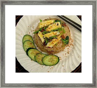 Potluck Fried Rice Framed Print by James Temple