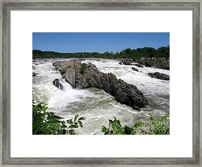 Potomac Rapids Framed Print
