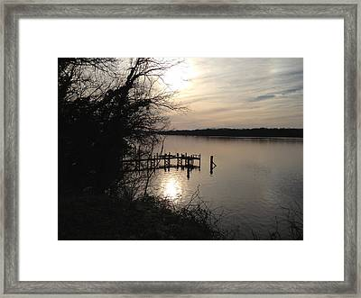 Framed Print featuring the photograph Potomac Reflective by Charles Kraus