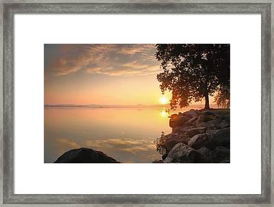 Potomac Sunrise II Framed Print by Steven Ainsworth