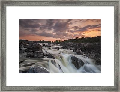 Potomac Sunrise Framed Print by Joseph Rossbach