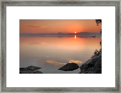 Potomac Sunrise Framed Print by Steven Ainsworth