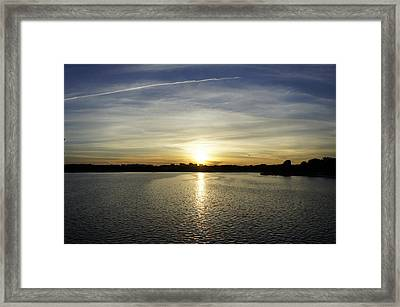 Potomac Sunset Framed Print by Laurie Perry