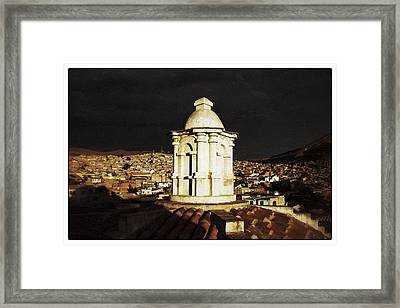 Potosi Church Dome Vintage Framed Print by For Ninety One Days