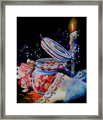 Potpourri And Lace Framed Print