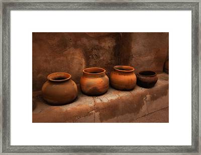 Pots ... Framed Print