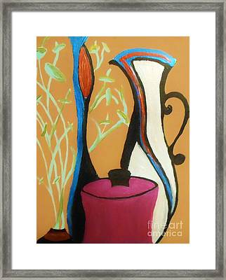 Pots And Petals Framed Print by Marie Bulger