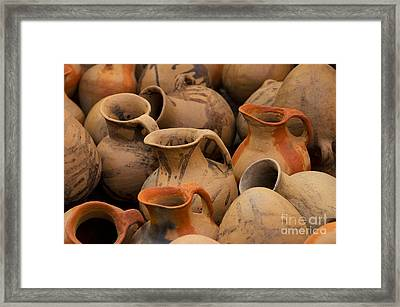 Pots And Pitchers Framed Print by Richard and Ellen Thane
