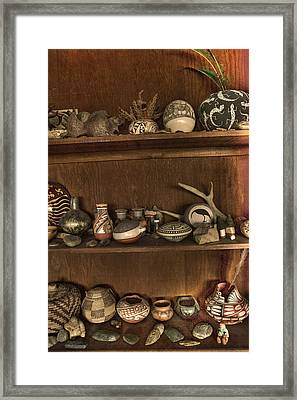 Pots And Things Framed Print by William Fields