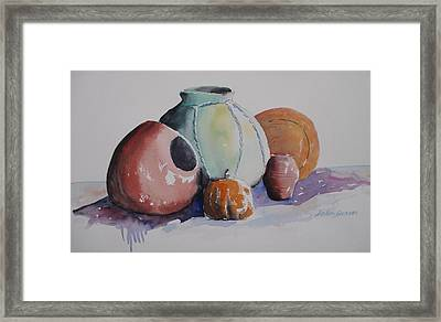 Framed Print featuring the painting Pots by John  Svenson