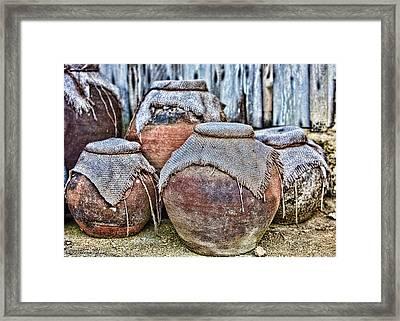 Pots Framed Print by Karen Walzer