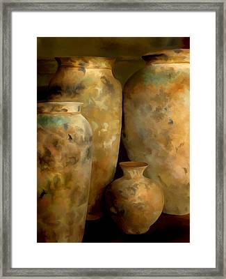 Pots Of Time Framed Print by Michael Pickett