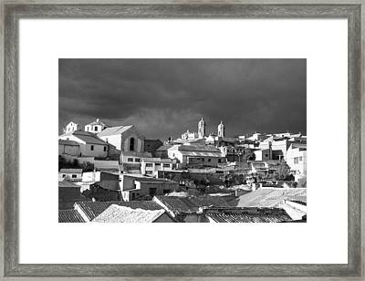 Potsi 2 Towers Black And White Framed Print by For Ninety One Days