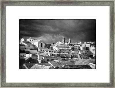 Potsi 2 Towers Black And White Retro Framed Print by For Ninety One Days