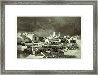 Potsi 2 Towers Black And White Vintage Framed Print by For Ninety One Days