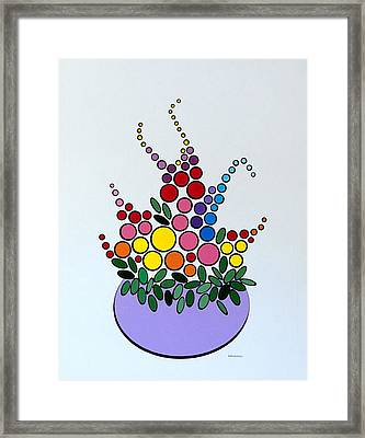 Potted Blooms - Lavendar Framed Print by Thomas Gronowski