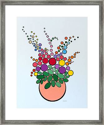 Potted Blooms - Orange Framed Print by Thomas Gronowski