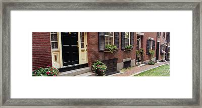 Potted Plants Outside A House, Acorn Framed Print by Panoramic Images