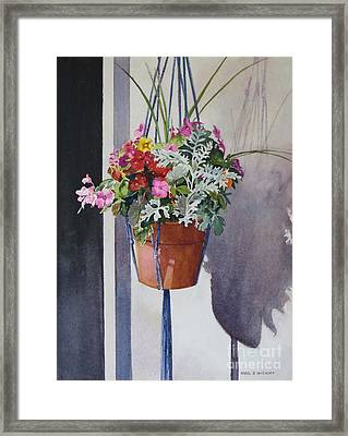 Potted Posies Framed Print by Karol Wyckoff