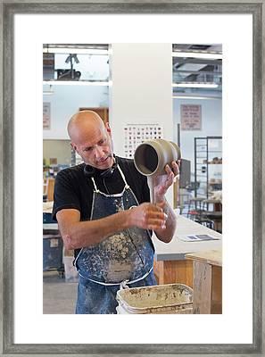 Potter At Work Framed Print