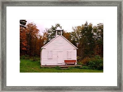 Potter Hollow School House Framed Print by Karen Silvestri