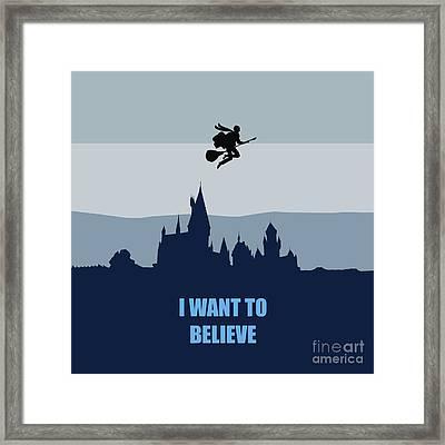 Potter I Want To Believe Framed Print by Koko Priyanto