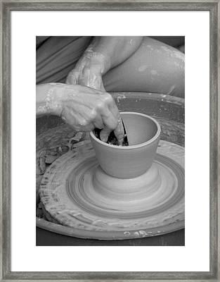 Potter Framed Print by John Cardamone