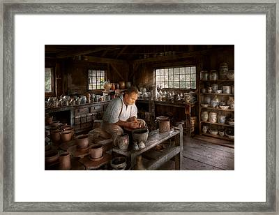 Potter - Raised In The Clay Framed Print by Mike Savad