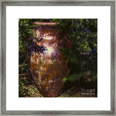 Framed Print featuring the photograph Potters Clay by Jean OKeeffe Macro Abundance Art