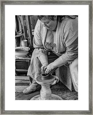 Potters Wheel V1 Framed Print