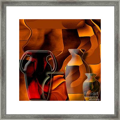 Pottery And Vase 1 Framed Print by Christian Simonian