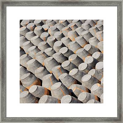 Pottery Drying In The Sun Framed Print by Dutourdumonde Photography