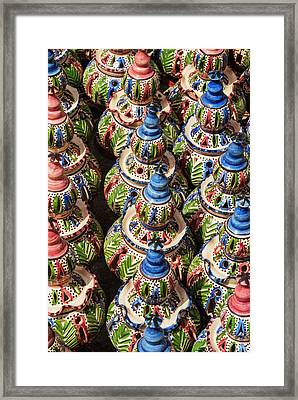 Pottery For Sale, Tabarka, Tunisia Framed Print