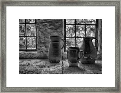 Pottery Framed Print by Inge Riis McDonald