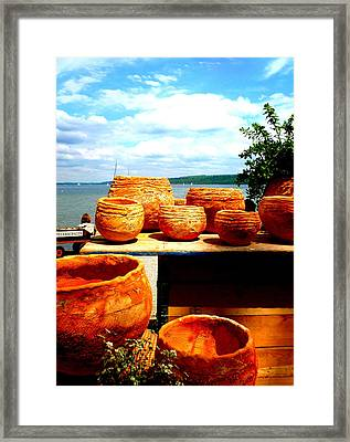 Pottery Market Diessen Framed Print by The Creative Minds Art and Photography