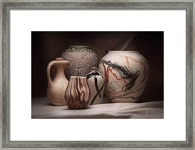 Pottery Still Life Framed Print