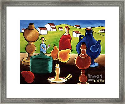 Pottery Still Life Framed Print by William Cain