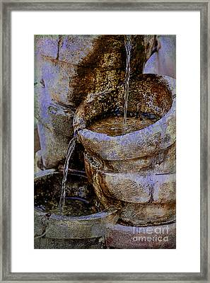 Pottery Water Fountain Framed Print by Janice Rae Pariza