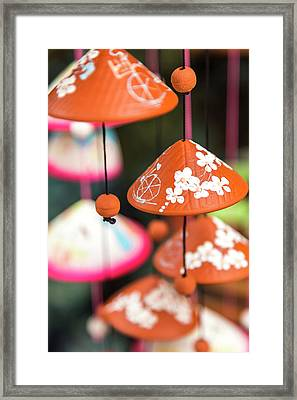Pottery Wind Chimes With Vietnamese Framed Print