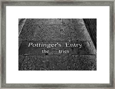 Pottinger's Entry Framed Print