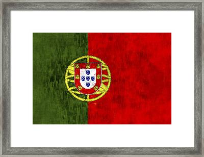 Potugal Flag Framed Print by World Art Prints And Designs